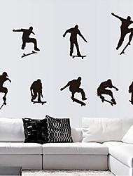 Skate garçon sticker mural PVC amovible environnement