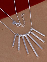 Necklace Statement Necklaces Jewelry Wedding / Party / Daily / Casual Silver Plated Silver 1pc Gift