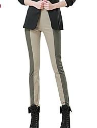 Women's Work/Plus Sizes Micro-elastic Medium Straight Pants (Cotton/Spandex)