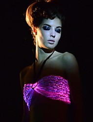 Women's Sexy Fiber Optic Remote Control Multicolors Led Party/Night Club Bra