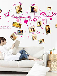 Environmental Flower Rattan Photo Frame Wall Sticker