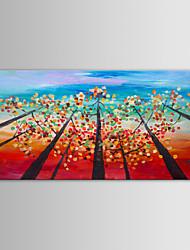 iarts peinture à l'huile arbres paysage moderne à huis clos la main toile avec cadre étiré peint