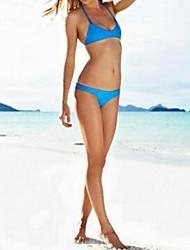 Women's Brazilian Sexy Strappy Halter Tops and Bottoms Beach Swimwear Bikini