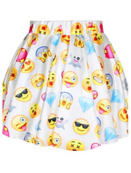 spandex emoji bonitos das mulheres pinkqueen® impresso saia plissada