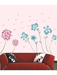Wall Stickers Wall Decals, Style Romantic Flowers PVC Wall Stickers