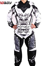 Motoboy Men's Professional Offroad Motocross Racing Polyester Jersey Tshirt and Pant Suit Set with Colored Printing