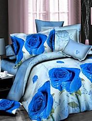 Duvet Cover Set,3D Bedding Set Duvet Cover Bed Sheet Bedclothes Cotton Home Textile