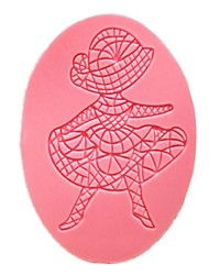 Oval Dancing Girl Fondant Lace Cake Molds Cupcake Mould For The Kitchen Baking Decoration Tool Cake Tool