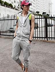 pantalones deportivos puros ocasionales de los hombres (algodón)