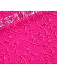 FOUR-C Fondant Decoration Embossing Rolling Pin Gumpaste Tools Color Transparent, 1PCS