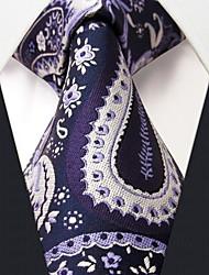 Q14 Shlax & Wing Neckties Ties Navy Blue Purple Paisley Handmade Silk