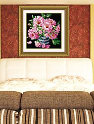 diamantes bricolaje punto de cruz establece flores planta salón romántico rosa de flores de cristal cesta bordado arte 31 * 31cm