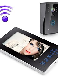 "SHANYI 2.4G 7"" TFT Wireless Video Door Phone Intercom Doorbell Home Security Camera Monitor"