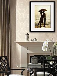 E-HOME® Framed Canvas Art, Kisser  Framed Canvas Print