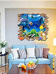 3D Wall Stickers Wall Decals, Style Underwater World PVC Wall Stickers