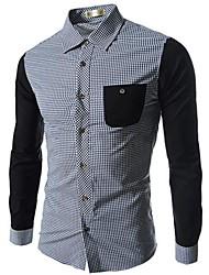 Men's Casual Long Sleeve Regular Shirts