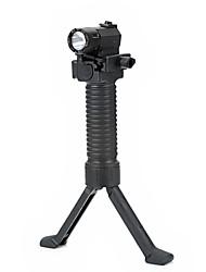 180lm 2 en mode lampe de poche blanche avec CREE Q3, prise rétractable de main bipied pour 20mm pistolet (noir)