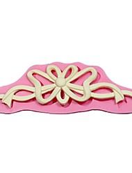 3D Flower Vine Icing Sugar Fondant Mold Wedding Cake Modeling Decorating Mould Silicone Cake Border Mold