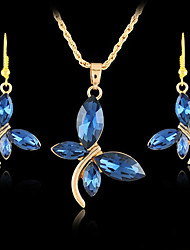Patina Gorgeous Butterfly Alloy With Rhinestone Jewelry Set(Including Necklace,Earrings)