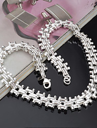 Necklace Chain Necklaces Jewelry Party / Casual Fashion Silver / Sterling Silver Silver 1pc Gift
