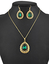 Women's European and American fashion major suit Earrings Necklace Set(1 set)8586-13