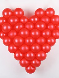 Wedding Décor 50 Pcs Solid Color Balloon With Love Type Shelf(More Color)
