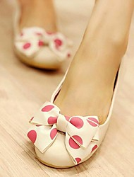 Women' Shoes Leather Flat Heel Round Toe Flats Casual (More Colors available)