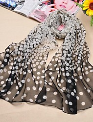 Shawls Chiffon/Polyester Wave point Casual/Special Occasion Scarves(More Colors)