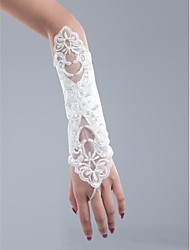 Satin And Net Opera Length Wedding/Party Glove