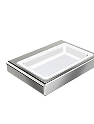 Contemporary Chrome Wall Mounted Soap Dishes zinc soap dish