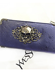 Women's Skull PU Leather Long Section Wallet High Quality PLadie's Handbag Clutches