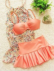 Girl's Floral Swimsuit