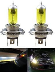 2pcs H4 100/90W High Low Beam 3000K Golden Yellow Halogen Headlamp Headlight Bulb
