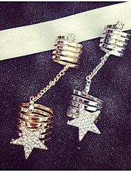 Women's Alloy Chain Star Ring Set With Rhinestone