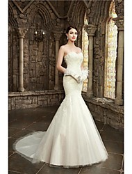 Trumpet/Mermaid Wedding Dress Court Train Sweetheart Lace/Satin/Tulle