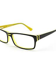 [lentes livres] retângulo acetato full-jante óculos de grau de moda