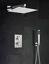 12 Inch Thermostatic Mixer Shower Rainlfall 300mm Ultra-Thin Waterfall Shower and Hand Held
