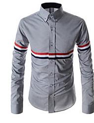 Gotobi Men's Casual Shirt Collar Long Sleeve Casual Shirts