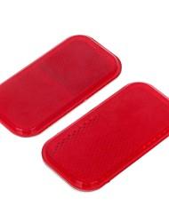 hailis hl-6073a plástico fita de advertência reflexivo para o carro (vermelho, 2 peças)