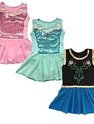 gymanastics de niña entrenan niños leotardo traje de la danza del ballet espectáculo rendimiento tutús vestido