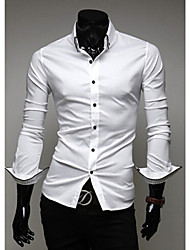 A Fish Men's Casual Lapel Collar Long Sleeve Shirt