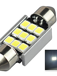 2.9W 12V 7000-8000K 36MM-2835-9SMD C5W with Radiator Canbus License Plate And Tail Box Lighting LED Light for Car
