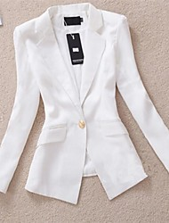 Women's White/Black Blazer , Work Long Sleeve