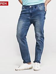 LEEPEN Men's Slim Pencil Style Elastic Jeans.