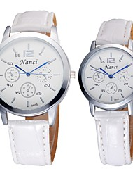 Couple's Lovers' Lower Price Good Quality Bracelet Watch Quartz Analog Bohemian PU Leather 2pcs/pair Cool Watches Unique Watches