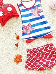 Girl's Star Striped Swimsuit