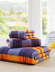 SenSleep® 3pcs Jacquard Towel Set, Multi-Color 100% Cotton Stripe Towel, Bath Towel Wash Towel and Hand Towel