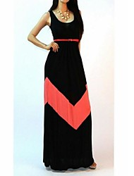 TIANHE Stripe vest women dress show thin render long mop the floor skirt SV002513