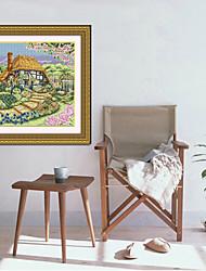 kits de punto de cruz pano de prato cruz de diamantes puntada pared costura decoración del hogar 36cm * 59cm