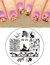 Nail Art Stamp Stamping Image Template Plate JQ Series NO.21